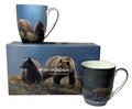 Bear Bone China Mug Set of 2