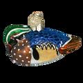 Wood Duck Glass Ornament   12046