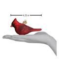Northern Cardinal Glass  Ornament