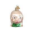 Pink Big Pig Glass Ornament | OWC12121p