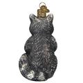 Vintage Raccoon Glass  Ornament