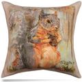 Squirrels Indoor/Outdoor Throw Pillow | SDPSQA