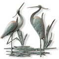Double Heron Wall Plaque | 53026 | SPI Home