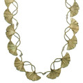 Gingko Adjustable Necklace   Michael Michaud Jewelry   SS8317BZ -2