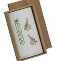 Giraffe Cloisonne Post Earrings | Bamboo Jewelry | BJ0058pe
