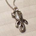 Crocodile Pendant Sterling Silver Necklace | Kabana Jewelry | Kp224