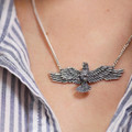 Eagle Pendant Sterling Silver Necklace | Kabana Jewelry | KP396