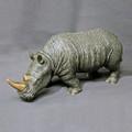 Rhino Bronze Sculpture White   Barry Stein   BBSRHI1-W