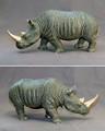 Rhino Bronze Sculpture White   Barry Stein   BBSRHI1-W -2