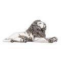 Resting Lion Silver Plated Sculpture   7502   D'Argenta