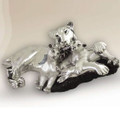 Silver Plated Lioness and Cubs Sculpture | 8040 | D'Argenta