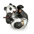 Silver Panda Bear Sculpture | A39 | D'Argenta