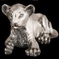 Silver Lion Cub Laying Sculpture | A57 | D'Argenta -2