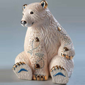 Polar Bear with Fish Ceramic Figurine | De Rosa | Rinconada | DER1032 -2