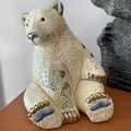 Polar Bear with Fish Ceramic Figurine | De Rosa | Rinconada | DER1032 -3