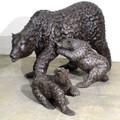 Bear Family Bronze Outdoor Statue | Metropolitan Galleries | MGISRB10039 -2