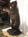 Grizzly Bear Life Size Bronze Outdoor Statue | Metropolitan Galleries | MGISRB10096 -4