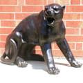 Panther Fighting Pair Bronze Outdoor Statues   Metropolitan Galleries   MGISRB30058