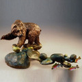 "Bear Bronze Sculpture ""Famished"" 