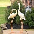 Heron Metal Outdoor Garden Statues (2) | Zaer LTD, Intl. | ZLIZR120028