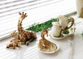 Giraffe Mother Figurine   Franz Porcelain   FS00478