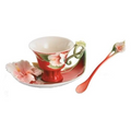 Island Beauty Hibiscus Cup Saucer Spoon | fz00978 | Franz Porcelain Collection -2