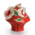 Island Beauty Hibiscus Sugar Jar | fz00981 | Franz Porcelain Collection
