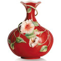 Island Beauty Hibiscus Vase | fz00984 | Franz Porcelain Collection -2