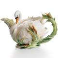Southern Splendor Swan Teapot | fz01550 | Franz Porcelain Collection -2