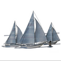Three Sailboats Wall Sculpture | TI Design | CA780