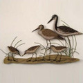Greater Yellow Leg Stilt & Sandpipers Wall Sculpture | TI Design | CW284