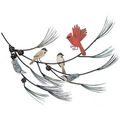 Birds on Branch Wall Sculpture | TI Design | CW721