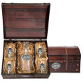 Whitetail Deer Decanter Chest Set | Heritage Pewter | HPICPTC114