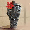 Baroque Red Lily Large Vase | FZ02148 | Franz Porcelain Collection