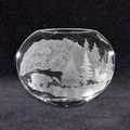 Bear Elk Crystal Neo Oval Vase   Evergreen Crystal   ECIP9290054 -2