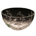 Hummingbird & Dogwood Round Crystal Bowl | Evergreen Crystal | ECTR01-114 -2
