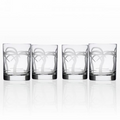 Palm Tree Double Old Fashioned Glass Set of 4 | Rolf Glass | 203003