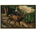 Elk Area Rug Roaming High Country | Custom Printed Rugs | CPR50 -2