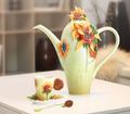 Van Gogh Sunflower Cup Saucer Spoon | FZ02459 | Franz Porcelain Collection