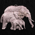 Elephant Family Pewter Ornament | Andy Schumann | SCHMC122103