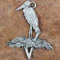 Jabiru Stork Pewter Ornament   Andy Schumann   SCHMC122113