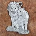 Lion Pair Pewter Ornament   Andy Schumann   SCHMC122124
