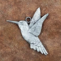 Hummingbird Pewter Ornament | Andy Schumann | SCHMC122145