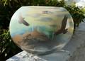 Eagle Mountain Scene Polish Art Glass Vase | WOM-AA-E570 -2