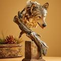 "Wolf Sculpture ""Survivor ""   Mill Creek Studios   6567412671"