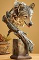 "Wolf Sculpture ""Survivor ""   Mill Creek Studios   6567412671 -2"