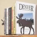 Moose Silhouette Bookends   Colorado Dallas   CDBE10