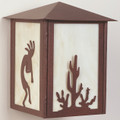 Cactus & Kokopelli Outdoor Light | Colorado Dallas | CDODL555053