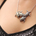 Four Sea Turtles Sterling Silver Necklace | Kabana Jewelry | KP343