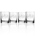 Octopus Double Old Fashioned Glass Set of 4   Rolf Glass   238005